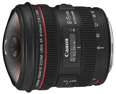 Canon Ultra-Wide-angle Zoom Lens EF8-15mm F4L Fisheye USM Full Size   New