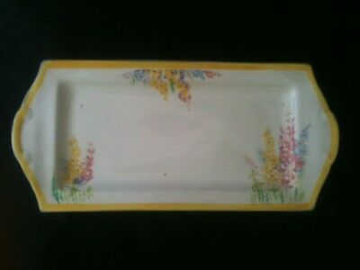 "H&K TUNSTALL SNAP DRAGONS 10""x4 1/2"" SANDWICH PLATE MADE ENGLAND 40 & 22A MARK"