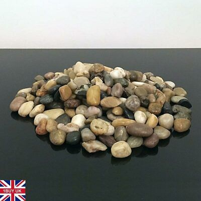 1kg New Assorted Browns Natural Stones Pebbles Table Decoration Pot Vase Garden
