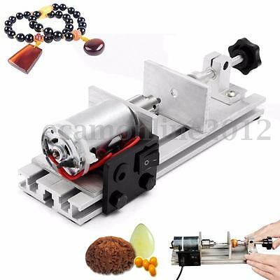 Mini 24V 50W Pearl Drilling Holing Machine Driller Bead Jewelry Tool Punch Maker