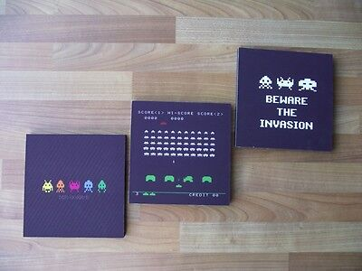 Space Invaders Canvas Wall Art Plaques/pictures Set- Free Postage