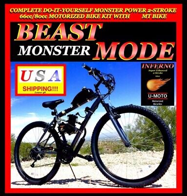 6680cc 2 cycle engine 29 mountain bike motorized bicycle kit new diy 2 stroke 48cc66cc80cc motorized bike engine kit with 29 solutioingenieria Choice Image