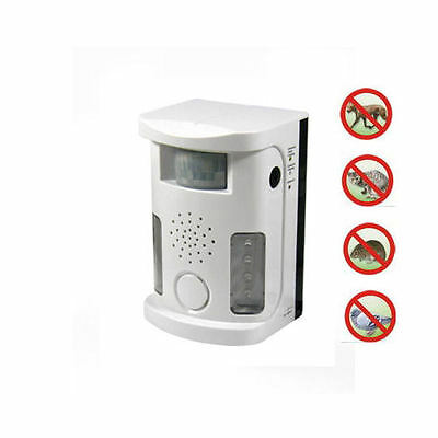 Ultrasonic Sonic Dog Cat Bird Rodent Animal Repeller Pest Control