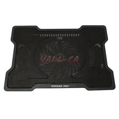 """17"""" One Fan USB Notebook Laptop Cooling Cooler Stand Pad Black CA"""