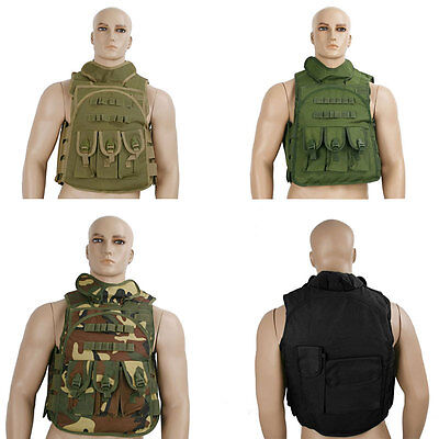 Military Airsoft Molle Tactical Vest Carrier Chest webbing Army with Pouches