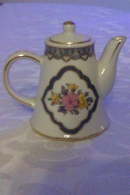 Collectable Pretty Ornate Floral Miniature Teapot Nantucket Series