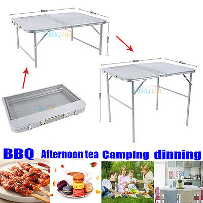 Portable Folding Adjustable Height Camping Table for BBQ Outdoor Garden Picnic