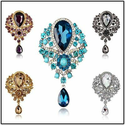 Wedding Bridal Rhinestone Crystal Diamante Brooches Brooch Bouquet Pin Party Hot