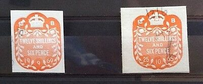Revenue-Fiscal Stamps--  12/6   Used/..never Hinged...ref 007