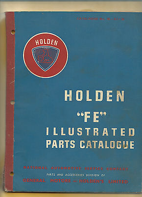 FE HOLDEN ILLUSTRATED PARTS CATALOGUE, over 100 pages, rare find