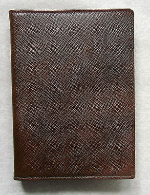 FILOFAX NEW EXTRA SLIM LEATHER POCKET FILE BROWN ORGANISER 11mm RING DIAMETER