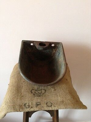 lovely old vintage cow drinker metal planter decorative basket