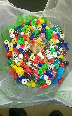 Job Lot - Over 100 x Dice Dies Game Pieces Counters Karma Sutra