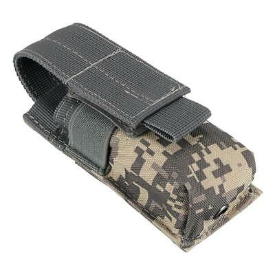 Tactical Military Flashlight Torch Belt Holster Holder Case Pouch - ACU Camo