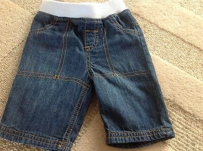 Next baby ELASTICATED waist top jeans up to 3 months
