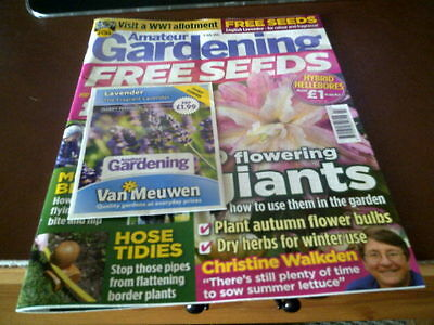 Amateur Gardening Magazine 4 JULY 2015 with seeds
