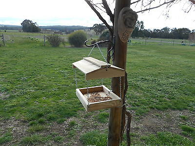 Hanging Bird feeder Collapsable Wooden for wild birds No assembly required