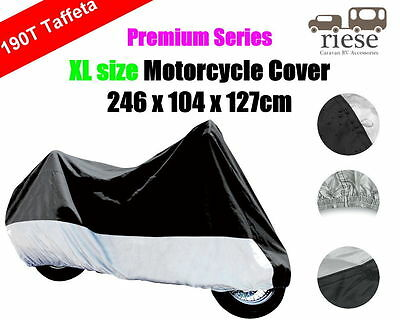 XL 190T Polyester Taffeta Dust Rain UV Protection Motorbike Motorcycle Cover