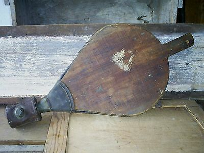 Antique Wood Tin Leather Bellows Farm Crop Plant Duster