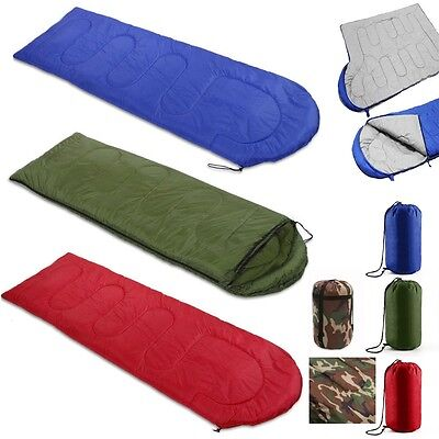 Waterproof 3-4 Season Camping Hiking Outdoor Suit Case Envelope Sleeping Bag Zip