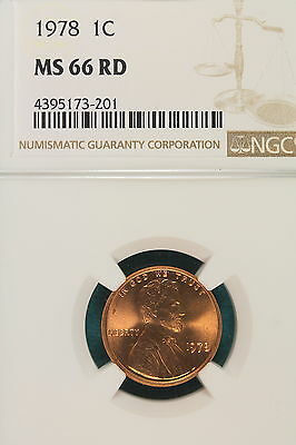 1978-P NGC MS66 RED Lincoln Memorial Cent!! #A6970