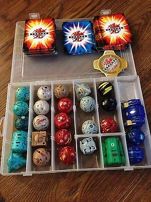 Bundle Of 26 Bakugan With Cards And Case