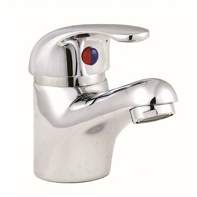 D Type Bathroom Mono Basin Sink Single Lever Mixer Tap With Click Clack Waste