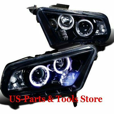 FORD MUSTANG 2010 2014 2012 2013 PROJECTOR SCHEINWERFER LED Angeleyes 10 12 14 c