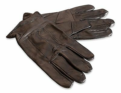 CLEARANCE Mens Real Leather Glove Elasticated Cuff Winter Warm Genuine CLR-301