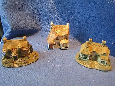 3 MINIATURE HOUSES/COTTAGES - ONE BY PHILIP LAURESTON BABBACOMBE POTTERY No. 12