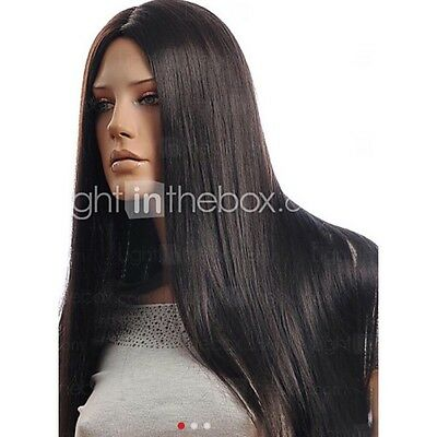 High-quality Synthetic Long Straight Hair Wig Simulation of Human Hair - Black
