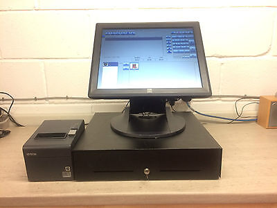 """Complete ELO 17A2 17"""" LCD Multifunction Touch Screen Epos System Printer Drawer"""