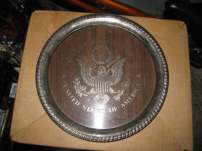 U.S silver plate Sheridan House of Representatives collectible plate 1970's