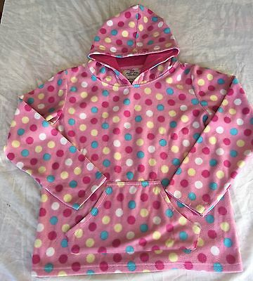 Girl's Peter Storm Polka Dot Pink Hoodie Size 9-10 Years Outdoors - Ski - Chill