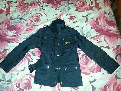 Girls Barbour International polarquilt jacket in age 6/7