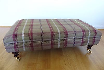 New Luxury Handmade Upholstered Footstool - Made In Your Own Fabric