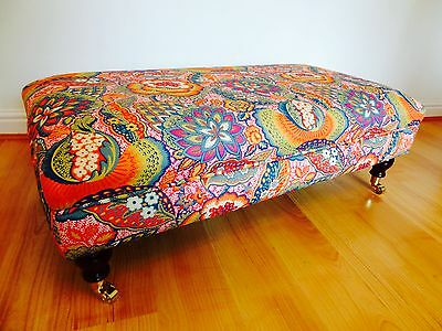 Create A Bespoke Handmade Footstool - In Your Own Fabric - Upholstered