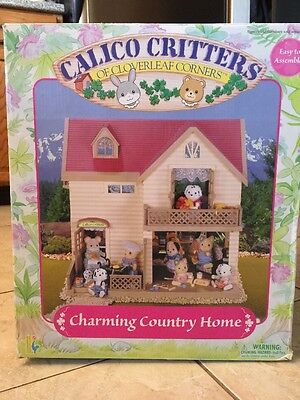 Calico Critters Charming Country Home Playset Very Rare 2002 Epoch