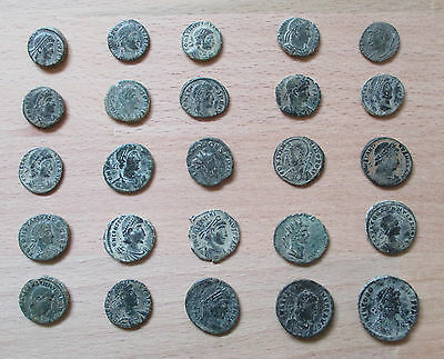 Collection of Roman and Bactrian Coins (x29) - Roman Empire