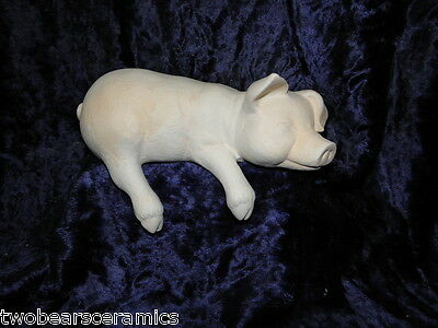 Ceramic Bisque Ready to Paint - Large Shelf Pig