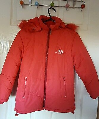 Girls Dolphin Coral Winter Coat Age 128 Cm In Excellent Condition