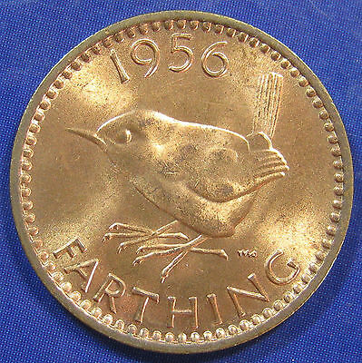 1956 ¼d Elizabeth II bronze Farthing - Brilliant Uncirculated, and Scarce