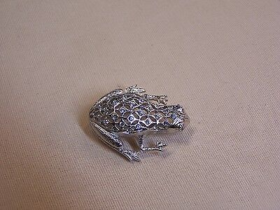 Pave Frog Pin Finished with Swarovski Crystals
