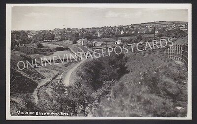 Breconshire View Of Brynmawr Real Photo Railway Interest