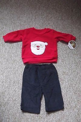 Bnwt  0-3  Mths  Christmas  Jumper + Trousers Outfit  By  Carters Of America