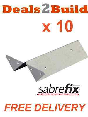 10 x Arris Rail Brackets  (Fence, Galvanised) FREE DELIVERY