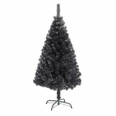 6ft Black Christmas Tree Imperial Tips  Artificial Tree with Metal Stand