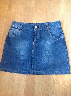 Great Bluezoo Blue Denim Skirt Age 13Years Worn Good Condition