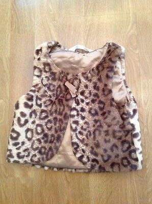 Beautiful H&m Soft Animal Print Gilet Age 2-3Years Worn Good Condition