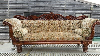 Antique Victorian William IV Sofa/Chaise Longue/Settee/Sofa circa 1830
